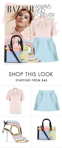 """""""Pastel"""" by fattie-zara ❤ liked on Polyvore featuring Closet, Elie Saab, Sophia Webster, Kurt Geiger, women's clothing, women, female, woman, misses and juniors"""