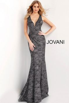 f78a96e4d81 Black glitter sleeveless plunging prom dress  Jovani  sexypromdress Black  Glitter