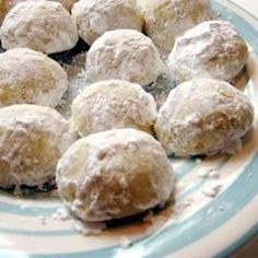 Also sometimes called 'Mexican wedding cookie', 'Russian tea cakes',  or 'butterballs', can also be made into crescents. You can also substitute pecans and they are very good as well.  This is the best version of these I have ever seen, it was given me by a friend who grew up in central Europe.