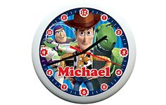 Are Woody, Buzz Lightyear and Rex your child's heroes? Then why not treat them to this cool Toy Story 3 Clock, which can be personalised with their Name! Your little one will love telling the time with his Toy Story Heroes help.