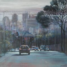 Cape Town cityscape 'Kloofnek III' by Karen Wykerd South African Artists, Artwork Display, Cape Town, Original Paintings, The Originals, Gallery, Places, Roof Rack, Lugares