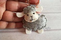 Sheep keychain Lamb ornament Lamb keychain Baby Girl Sheep