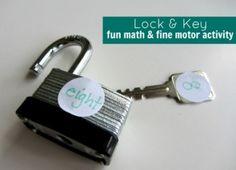 Fun with Locks: Math or Literacy Fine Motor Activity