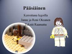 Pääsiäinen kerrottuna legoilla Lego, Religion, Family Guy, Easter, Teaching, Fictional Characters, Spring, Top, Easter Activities