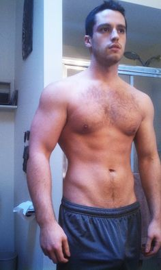 longbulge: seriousbator: swinging dicks is mesh gym shorts. fuckin hot. otterfiles: queerflexible:   That is one hot young otter.  Love the chest hair.  Those sexy fuck cuts down to that big bulge.  Grrr… Freeballing jock