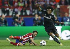Halve finale Champions League atl madrid - chelsea 0-0