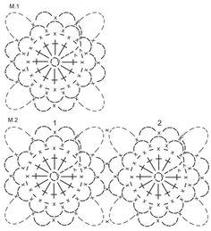 """Pulóver DROPS en ganchillo / crochet, con aplicaciones y franjas, en """"Safran"""" y """"Cotton Viscose"""". Talla: S – XXXL. ~ DROPS Design"""