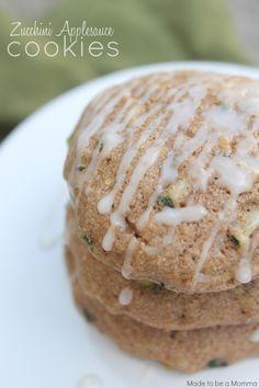 Zucchini Applesauce Cookies