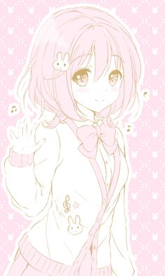 anime, pink, and kawaii image Walpapers Cute, Cute Art, Pretty Anime Girl, Beautiful Anime Girl, Kawaii Art, Kawaii Anime Girl, Anime Girls, Anime Chibi, Kawaii Drawings