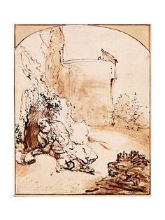 The Prophet Jonah Before the Walls of Nineveh Giclee Print by Rembrandt van Rijn at Art.com