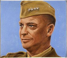 General Dwight D. Eisenhower about 1943 (World War II).  Artist William Timym.