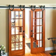 Interior Wooden Hanging Modern Sliding Barn Door Hardware