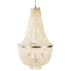 Lighting :: Chandeliers :: White Shell Shingled Chandelier