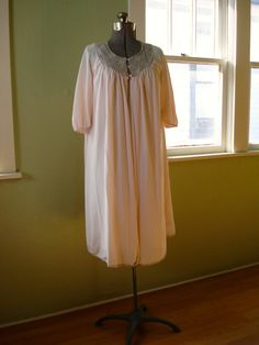Vintage 1960s Peignoir Nightie Set Pink Form Fit by bycinbyhand, $60.00