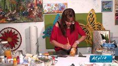 ADRIANA LEONEL - PINTURA EM PRATOS, POTES E VIDROS - PARTE 2 de 2