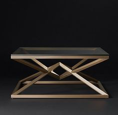 not round but had to share - RH Modern's Coffee Tables
