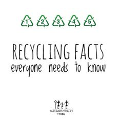 Read #recyclingfacts #recycle #recycling