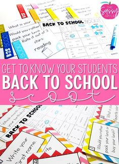 First Week Plans - The Sassy Apple Back to School Activities Getting to Know your Students Beginning of the Year 2nd, 3rd grade