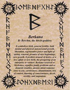 RUNE OF THE DAY! BERKANO! LET THE REBIRTH BEGIN! SUNDAY BLESSINGS! GALLAN www.NorseWarlock.com