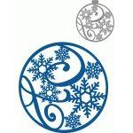 circle flourish snowflakes