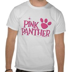 Pink Panther Paw T-shirt Design - many styles and colours, both men's and lady's / women's (vintage, retro, t-shirts, tee, tees, t shirt, tshirt, creative, cool, graphic, text, style)