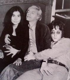 Yoko Ono, Andy Warhol, John Lennon