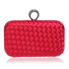 ccae088f82356 1920s Gatsby Flapper Evening clutch Bag with chain woven Material finish 6  colors. Fashion HandbagsFashion BagsWedding ...