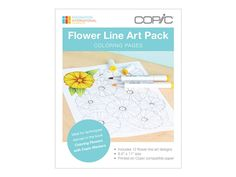 These Line Art Images Are Inspired By The Coloring Flowers With Copic