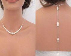 Collar de perlas collar Simple de la boda joyería por treasures570