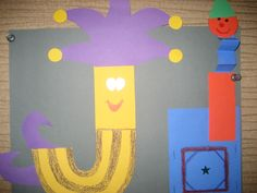 """Jj"" Letter of the week art project: jester & jack-in-the-box"
