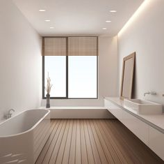 Lovely application of the @astrolighting trimless round single downlights in a modern bathroom. More at sparksdirect.co.uk