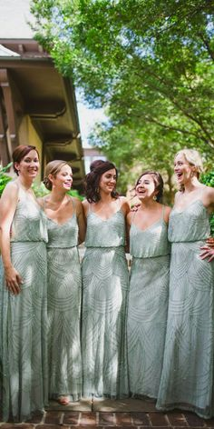 Graceful And Fresh Green Bridesmaid Dresses ❤ See more: http://www.weddingforward.com/green-bridesmaid-dresses/ #weddings