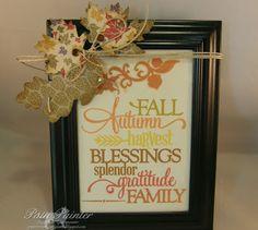 Patti's Paper Creations: Some Fall Decor....