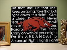 Razorback canvas. Super cute! It almost makes me want to do a Razorback mantle theme at some point this Fall!