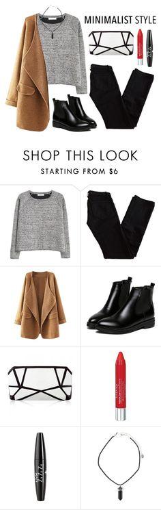 """Minimalist"" by angiegdurant on Polyvore featuring MANGO, J Brand, Isadora, NYX, Boots, sweaters, minimalism, Minimaliststyle and woolcoat"