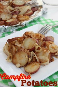 Campfire Potatoes Recipe – Cooked on the Grill #campfire #recipe #potatoes http://www.frugalcouponliving.com/2014/06/22/campfire-potatoes-recipe-cooked-grill/