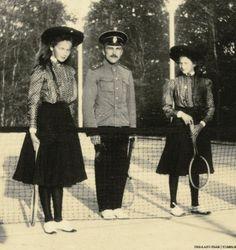 Olga and Tatiana with officer