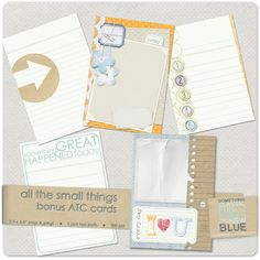 Quality DigiScrap Freebies: All The Small Things journaling cards freebie from Something Blue Studios