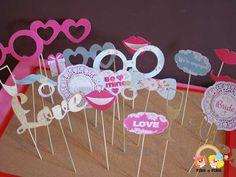 Litere gumate glitter auriu Love Wedding Props, Photo Book, Marie