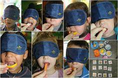 Hier ontwikkelen we de zintuigen. De peuters proeven allerlei dingen bv wortel, banaan, appel,..