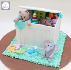 Toy Box Cake for baby shower by Sweet & Snazzy https://www.facebook.com/sweetandsnazzy