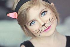 Cat Makeup For Kids, Cat Face Makeup, Simple Cat Makeup, Halloween Makeup For Kids, Unique Halloween Costumes, Diy Halloween, Costume Ideas, Women Halloween, Cat Costume Makeup