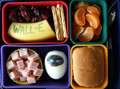 WALL-E and Eve Bento Box Lunch