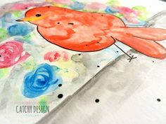Water color art layout