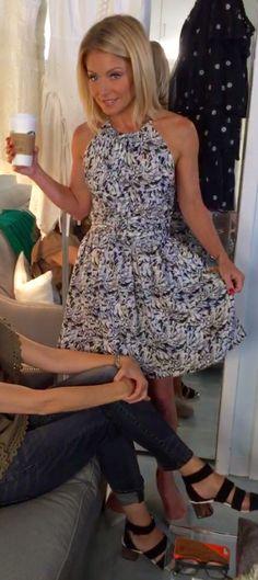 Kelly Ripa in a Proenza Schouler dress! Kelly's Fashion Finder.
