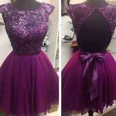 Purple Homecoming Dress Short Prom Party Dresses pst0991