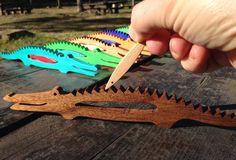 Musikinstrumente - Herr Krokodil & seine Fische, Musikinstrument - ein Designerstück von Lesnavesna bei DaWanda