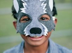 here is an idea for how to make Treys Halloween mask in felt