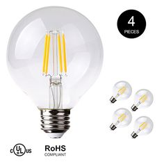 Replacement Bulbs For String Lights 25 Pack  Clear G40 Globe Light Bulbs For Patio String Lights Fits