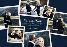 Mixbook Couple Collage Save the Date Cards